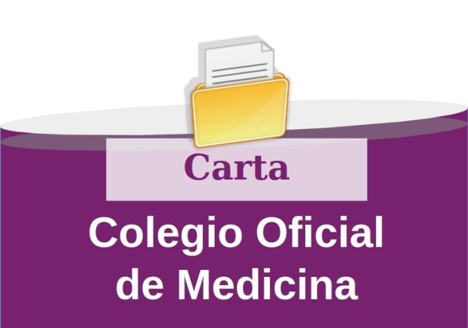 Carta Colegio Oficial de Medicina