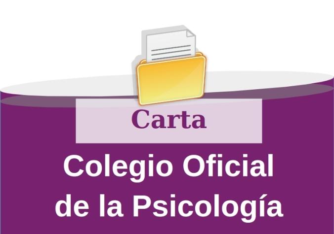 Carta Colegio Oficial de la Psicología